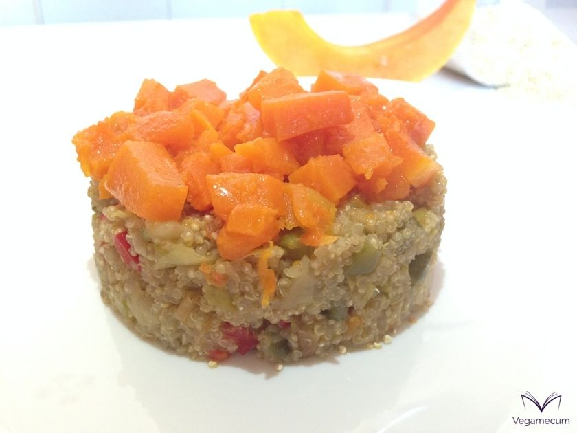 Timbale of quinoa with pumpkin