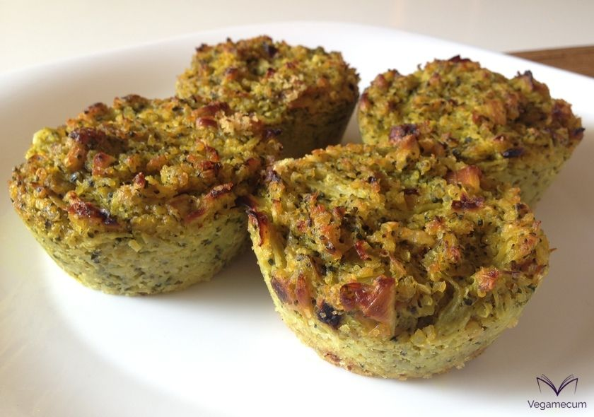 Salted broccoli muffins with quinoa
