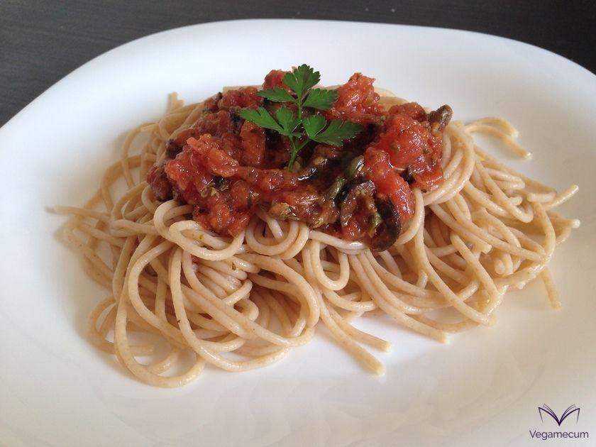 Puttanesca spaghetti
