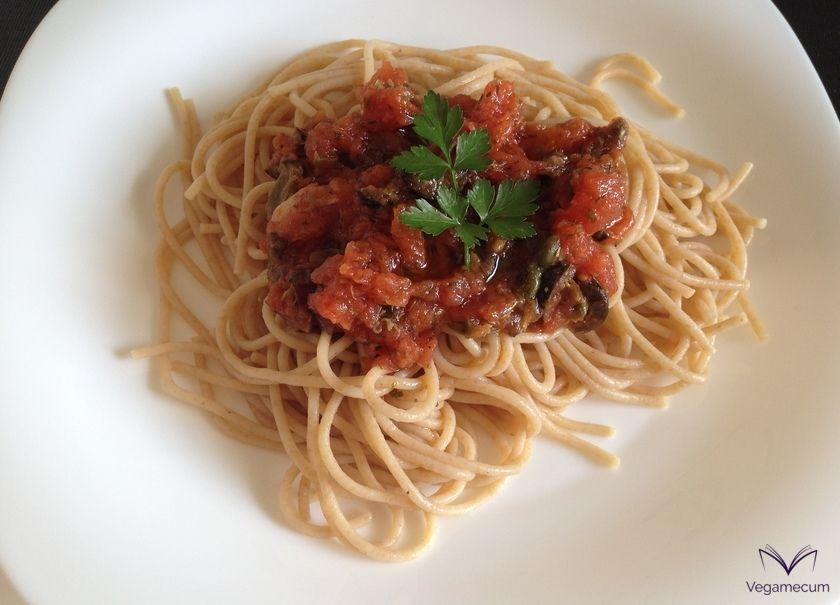 Puttanesca spaghetti ready!