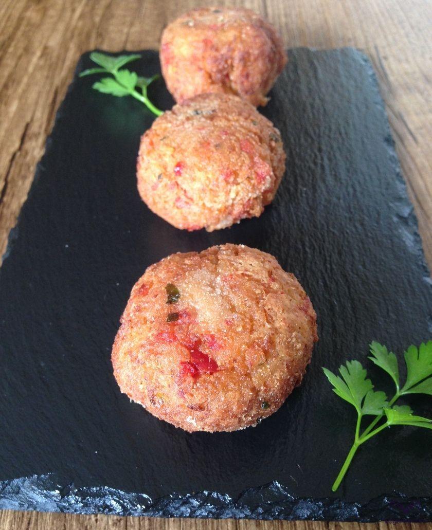 Albóndigas de quinoa y pimiento rojo