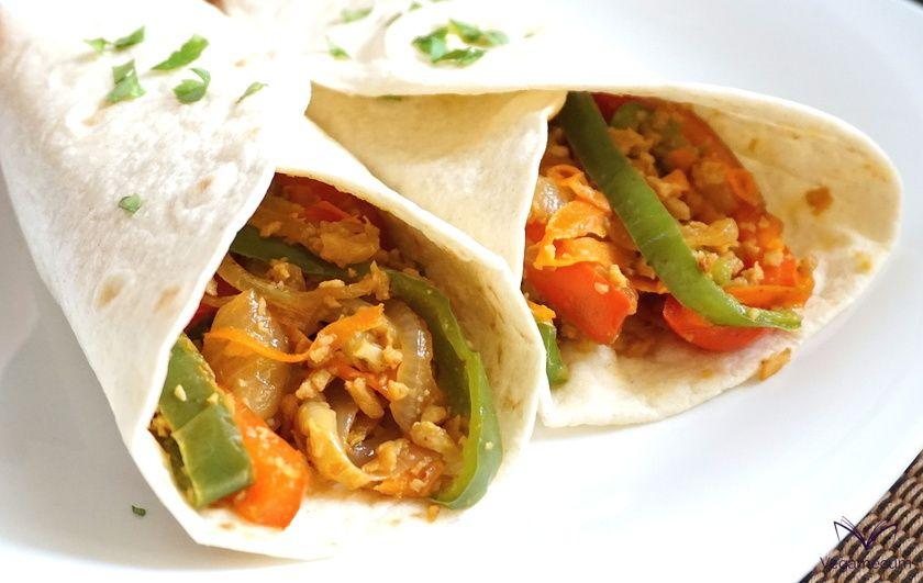 Fajitas mexicanas veganas