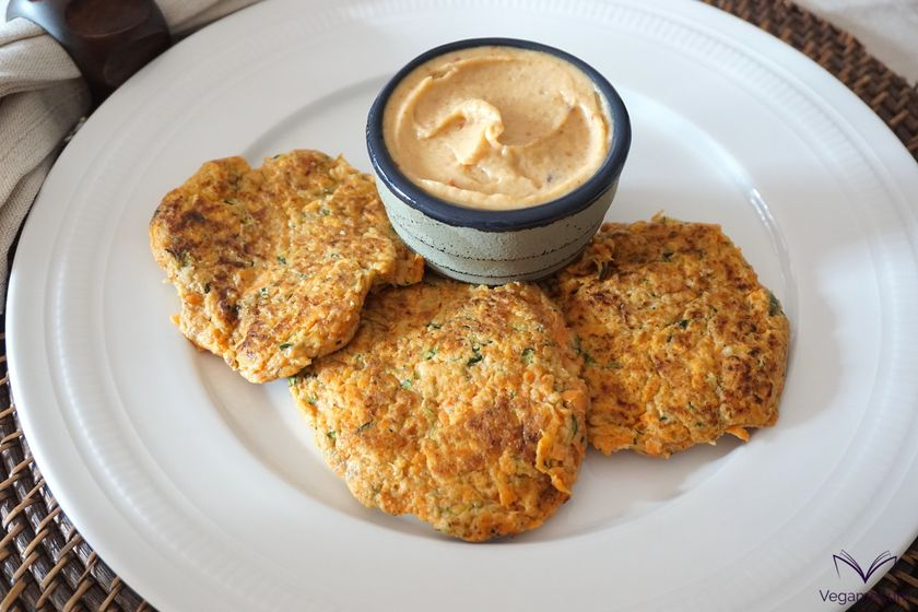 Vegan Zucchini and Sweet Potato Nut Fritters