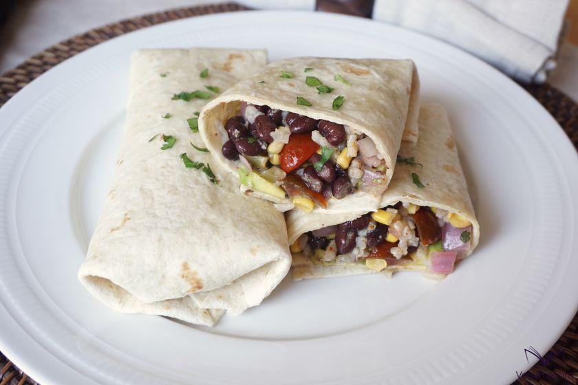 Burritos veganos Tex-Mex de verano