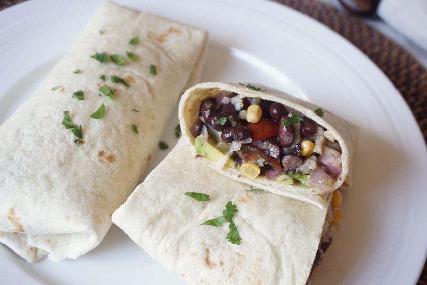 Vegan Tex-Mex Summer Burritos Detail