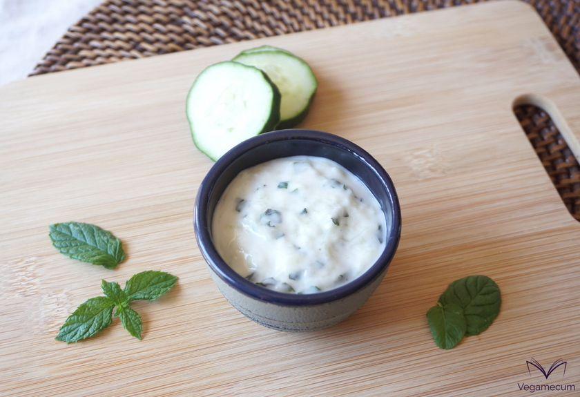 Homemade vegan Tzatziki sauce