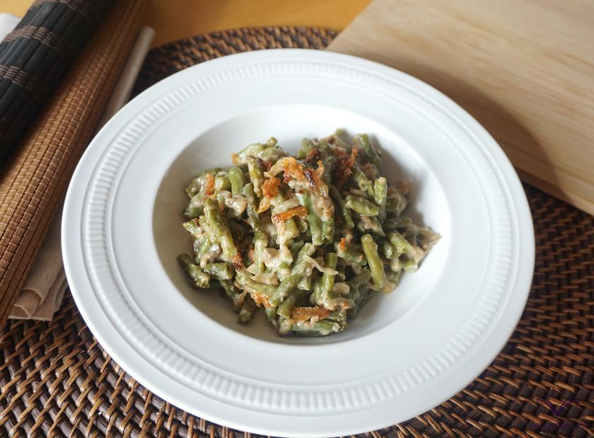 Portion of Green Bean Casserole