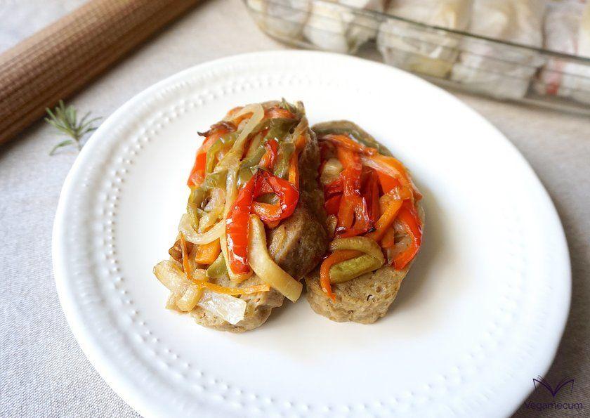 Seitán con verduras en papillote