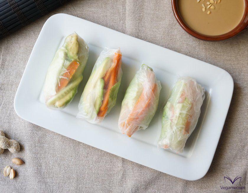 Vietnamese summer rolls ready
