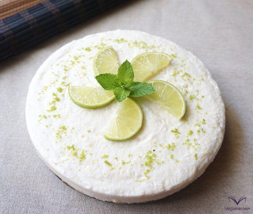 Tarta fría de limón vegana